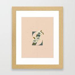 Z for Zinnia Framed Art Print