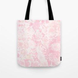 Vintage blush pink baby yellow roses flowers Tote Bag
