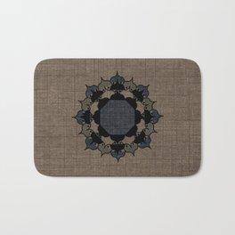 Lotus Mandala on Fabric Bath Mat