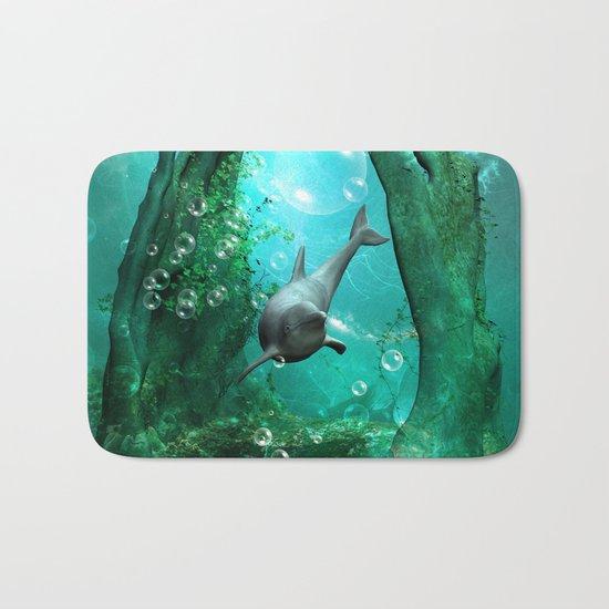 Swimming dolphin Bath Mat