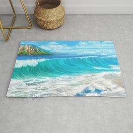 Mermaid's mountain Rug