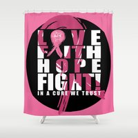 """the cure Shower Curtains featuring """"In a Cure We Trust""""  by InNYweTrust"""