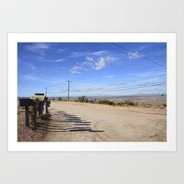 Long Desert Shadows Art Print