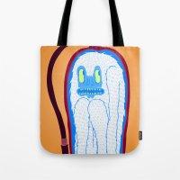 vans Tote Bags featuring Vans & Color Magazine by Hugo Diaz Romero