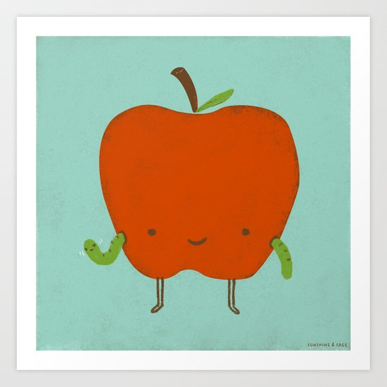 Apple Hi Art Print