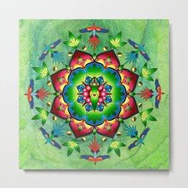 Gaia Rainforest Mandala Metal Print