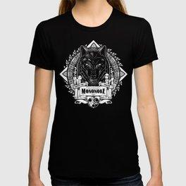 Mononoke Hime Wolf Pride Letterpress Line Work T-shirt