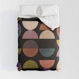 mid century abstract geometric autumn 3 Comforters