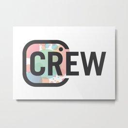 CR Crew Logo Metal Print