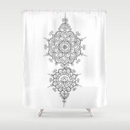 Mendi Mandala Madness  Shower Curtain