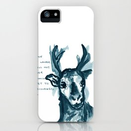 Deer Discovery iPhone Case