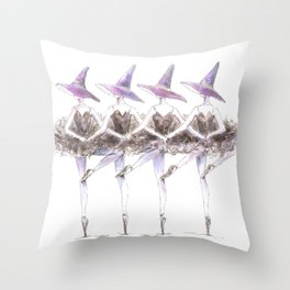 Dancing Witches Throw Pillow
