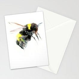 Bumblebee, bee art flying bee design honey bee wildlife Stationery Cards