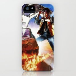 Back To The Future -Ink n Painted iPhone Case