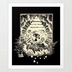 Us Lights All Seeing Eye Art Print