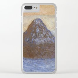 Haystacks, Snow Effect by Claude Monet Clear iPhone Case