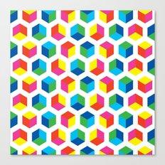 Cube pattern Canvas Print