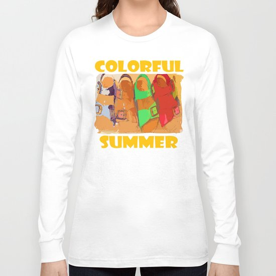 Colorful Summer Long Sleeve T-shirt