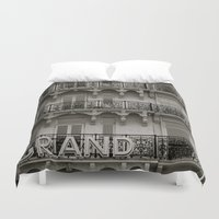 grand theft auto Duvet Covers featuring Grand by AnnaBobanna