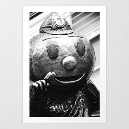 Brutus Buckeye says Number One  Art Print