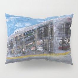 Moving A Train on NYC MTA Platform Pillow Sham