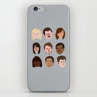 parks iPhone & iPod Skins featuring Parks and Rec by Emma Ehrling