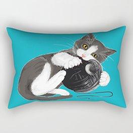 Death Star Kitty Cat Rectangular Pillow