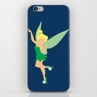 tinker bell iPhone & iPod Skins featuring Tinker bell by Dewdroplet