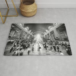 Grand Central Daylight (classic black & white edition) Rug