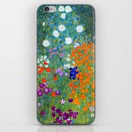 Gustav Klimt Flower Garden iPhone Skin
