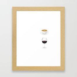 How To Tell Time T-Shirt - Coffee & Wine Tshirt Framed Art Print