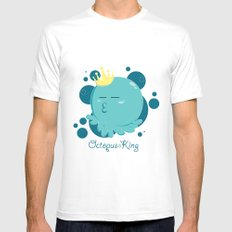 Octopus King Mens Fitted Tee White MEDIUM