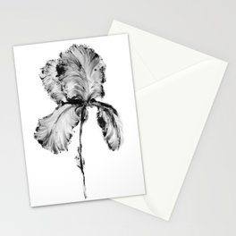 Flower Painting | Iris | Minimalism | Black And White | Rustic | Art Print Stationery Cards