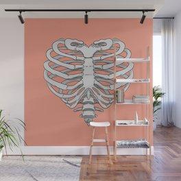 Heart Rib Cage Wall Mural