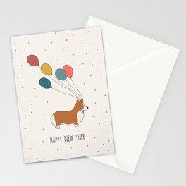 HAPPY NEW YEAR CORGI Stationery Cards