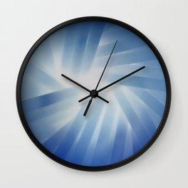 Blue Streaks of Light Wall Clock