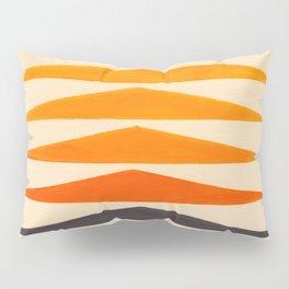 Vintage Scandinavian Orange Geometric Triangle Pattern Pillow Sham
