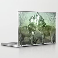 wolves Laptop & iPad Skins featuring Wolves by YM_Art by Yv✿n / aka Yanieck Mariani
