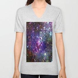 Deep Dark Colorful Galaxy Unisex V-Neck