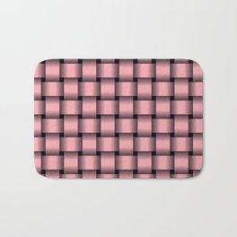Pink Weave Bath Mat