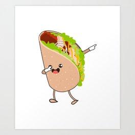Dabbing Taco Cinco de Mayo Mexican Art Print