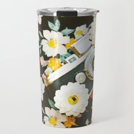 Floral Vintage Camera (Color) Travel Mug
