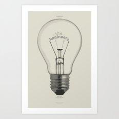 The Lumineers Gig Poster Art Print