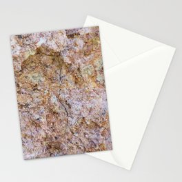 Abstract orange granite pattern Stationery Cards