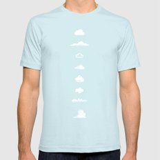 Famous Clouds Light Blue Mens Fitted Tee SMALL