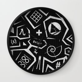 Math-A-Cons Wall Clock