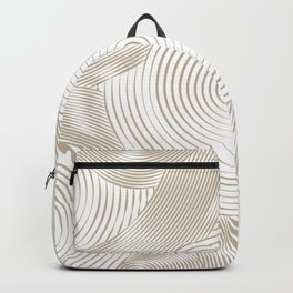 Optical Illusion I - Get Lost (Gold on White) Backpack