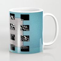 sports Mugs featuring SQUARE AMBIENCE - Sports by INA FineArt