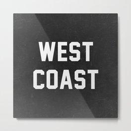 West Coast - black version Metal Print