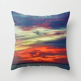 October Lake St.Clair Sunset Throw Pillow